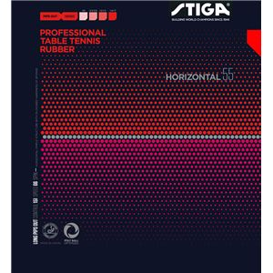 STIGA(スティガ) 粒高ラバー HORIZONTAL 55(ホリゾンタル 55) RED 特薄 - 拡大画像