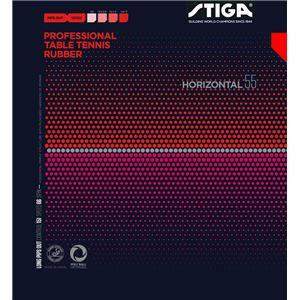 STIGA(スティガ) 粒高ラバー HORIZONTAL 55(ホリゾンタル 55) RED 薄 - 拡大画像