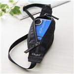 (業務用3セット) Digio2 FIX IN デジタルカメラ ストラップケース 036 ブラック DCA-036BK