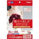 (業務用5セット) Digio2 インクジェットプリンタ用紙 印画紙タイプ 2L/20枚 JPSK2-2L-20