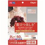 (業務用5セット) Digio2 インクジェットプリンタ用紙 印画紙タイプ 2L/50枚 JPSK2-2L-50