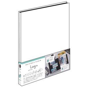 (業務用2セット) ポケットアルバム ログプラス ホワイト A-LPA4H-W
