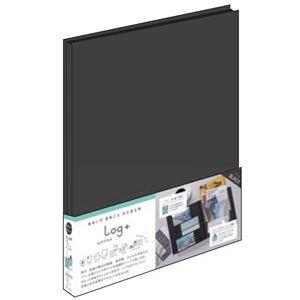 (業務用2セット) ポケットアルバム ログプラス ブラック A-LPA4H-D