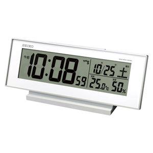 SEIKO(セイコー) 置時計 (電波時計) 夜でも見える電波時計 SQ762W 1個 - 拡大画像