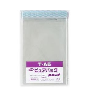 (業務用セット) シモジマ Nピュアパック テープ付き 6798323 100枚入