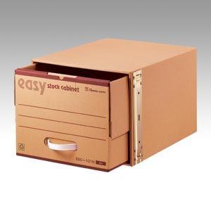 (業務用セット) ゼネラル イージーキャビネット 段ボール製・補強材:鉄製 ストックキャビネット ESC-101 1個入 【×2セット】