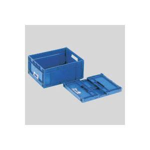 (業務用セット) 岐阜プラスチック工業 折りたたみコンテナーF-Box F-BOX112G ダークブルー 1個入 【×2セット】