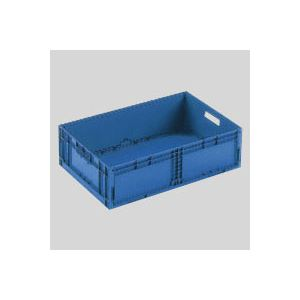 (業務用セット) 岐阜プラスチック工業 折りたたみコンテナーF-Box F-BOX122G1 ダークブルー 1個入 【×2セット】
