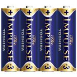 (業務用セット) 東芝 TOSHIBA アルカリ乾電池 ザ・インパルス シュリンクパック LR6HS 4KP 4本入 【×5セット】