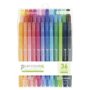 トンボ鉛筆 水性マーキングペン プレイカラーK 36色セット GCF-013 - 拡大画像