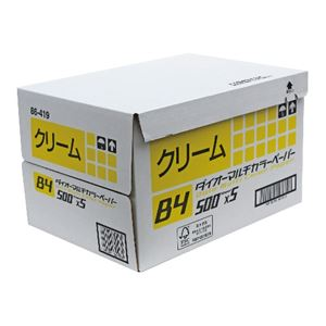 アピカ ダイオーカラーペーパーB4 クリーム DCP1B4
