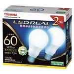 東芝 LED電球 一般電球形 全方向タイプ 810lm 昼白色2P LDA7N-G/60W-2P