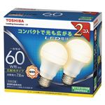 東芝 LED電球 一般電球形 広配光タイプ 810lm 電球色2P LDA8L-G-K/60W-2P