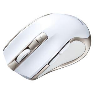 サンワサプライ ワイヤレスブルーLEDマウス ホワイト MA-WBL38W