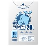 (まとめ) シモジマ LDポリ 025E 20L 透明 10枚入 【×50セット】