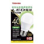 (まとめ) 東芝 LED電球 E26 40W 全方向タイプ 昼白色【×5セット】