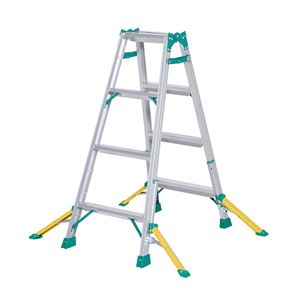 ピカコーポレイション アウトリガー付きはしご兼用脚立 NDAセーフリガー 天板高さ1.1m - 拡大画像