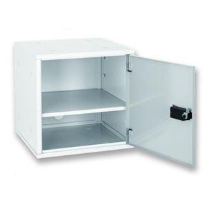 アスカ 組立式 収納ボックス ホワイト - 拡大画像