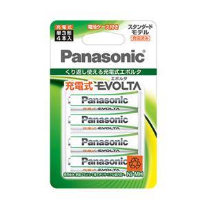 (まとめ) パナソニック コンシューマーマーケティング 充電式エボルタ スタンダード 単3形 4本パック 【×3セット】 - 拡大画像