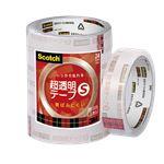 (まとめ) スリーエムジャパン スコッチ 超透明テープS (大巻)工業用包装 5巻入 24mm 巻芯径76mm 【×5セット】
