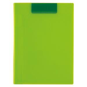 (まとめ) セキセイ ActifV クリップファイル マグネプラス A4判 タテ型 ライトグリーン 【×5セット】 - 拡大画像