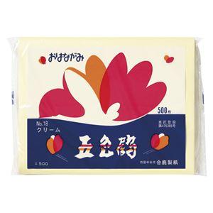 (まとめ) ゴークラ お花紙五色鶴 500枚入 クリーム 【×10セット】 - 拡大画像