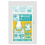 (まとめ) オルディ プラスプラスネオ 手提げポリバッグ M 半透明 40P 【×30セット】