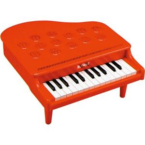 河合楽器製作所 ミニピアノ P-25(赤) 【つみき・木製玩具】