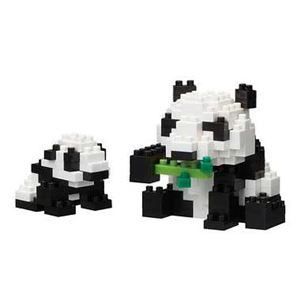 カワダ NBC_236 ジャイアントパンダの親子 【nanoブロック】 - 拡大画像