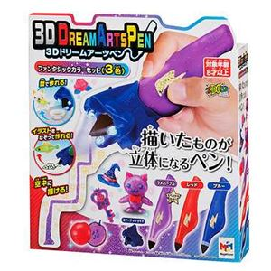メガハウス 3Dドリームアーツペン ファンタジックカラーセット(3色) - 拡大画像