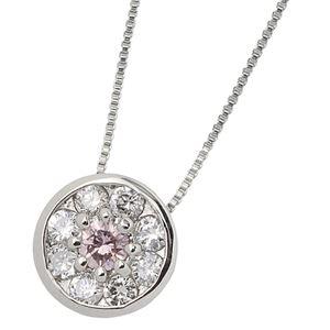 ピンクダイヤモンドプラチナネックレス