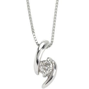 【訳あり・在庫処分】プラチナPT900 天然ダイヤモンドペンダント/ネックレス0.05CT - 拡大画像