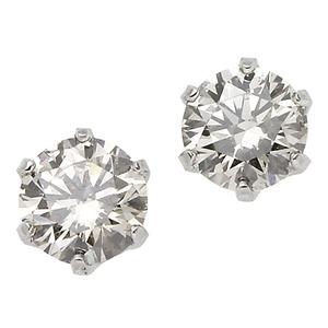 ダイヤモンド ピアス 一粒 プラチナ Pt900 0.1ct スタッドピアス ダイヤピアス 0.1カラット シンプル - 拡大画像