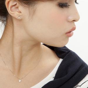 ダイヤモンドペンダント/ネックレス 一粒 プラチナ Pt900 0.3ct ダイヤネックレス 6本爪 無色透明 Dカラー SI2 Excellent エクセレント 鑑定書付き - 拡大画像