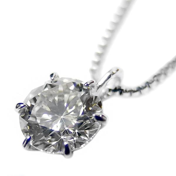 ダイヤモンドペンダント/ネックレス 一粒 プラチナ Pt900 0.5ct ダイヤネックレス 6本爪 Dカラー SI2クラス Excellent エクセレント 0.5カラット 鑑定書付き2