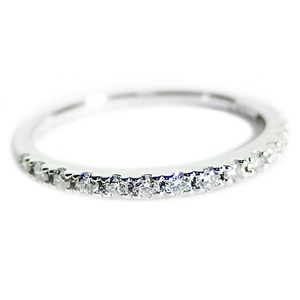 ダイヤモンド リング ハーフエタニティ 0.2ct 11号 プラチナ Pt900 0.2カラット エタニティリング 指輪 鑑別カード付き - 拡大画像