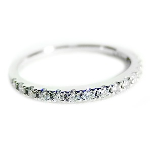 【鑑別書付】プラチナPT900 天然ダイヤリング 指輪 ダイヤ0.30ct 8号 ハーフエタニティリング - 拡大画像