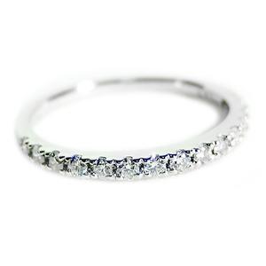 【鑑別書付】プラチナPT900 天然ダイヤリング 指輪 ダイヤ0.30ct 12号 ハーフエタニティリング - 拡大画像