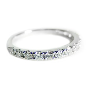 【鑑別書付】プラチナPT900 天然ダイヤリング 指輪 ダイヤ0.50ct 9.5号 ハーフエタニティリング - 拡大画像