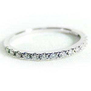 プラチナPT900 天然ダイヤリング 指輪 ダイヤ0.20ct 11.5号 Good H SI ハーフエタニティリング - 拡大画像