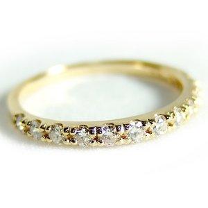 ダイヤモンド リング ハーフエタニティ 0.3ct 9号 K18 イエローゴールド ハーフエタニティリング 指輪 - 拡大画像