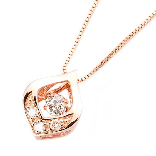 (ダンシングストーン)ダイヤモンドペンダント/ネックレス 一粒 K18