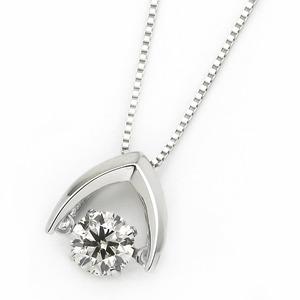 ダイヤモンド ネックレス プラチナ Pt900 0.3ct 揺れる ダイヤ ダンシングストーン ダイヤネックレス 傘 カサ ペンダント - 拡大画像