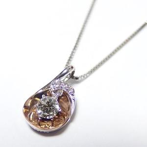 ダイヤモンド ネックレス 0.11ct K18 ピンクゴールド&ホワイトゴールド ハート&キューピット H&C Hカラー SIクラス GOOD 揺れる ダイヤモンド ペンダント 鑑別書付き 限定1点限り - 拡大画像