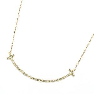 ダイヤモンド ネックレス K18 イエローゴールド 0.2ct スマイリー ダイヤネックレス シンプル ペンダント - 拡大画像