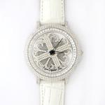 アンコキーヌ ネオ 45mm バイカラー ミニクロス シルバーベゼル インナーベゼルクリアー ホワイトベルト イール 正規品(腕時計・グルグル時計)