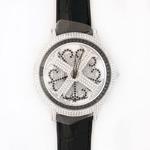 アンコキーヌ ネオ 45mm バイカラー ミニクロス シルバーベゼル インナーベゼルブラック ブラックベルト イール 正規品(腕時計・グルグル時計)