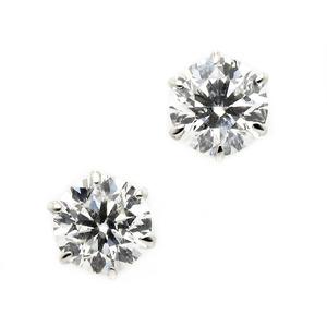 ダイヤモンド ピアス プラチナ Pt900 0.6ct ダイヤピアス Dカラー SI2 Excellent EXハート&キューピット エクセレント 鑑定書付き - 拡大画像