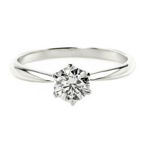 ダイヤモンド ブライダル リング プラチナ Pt900 0.5ct ダイヤ指輪 Dカラー SI2 Excellent EXハート&キューピット エクセレント 鑑定書付き 14号 - 拡大画像