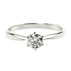 ダイヤモンド ブライダル リング プラチナ Pt900 0.3ct ダイヤ指輪 Dカラー SI2 Excellent EXハート&キューピット エクセレント 鑑定書付き 15号 - 拡大画像